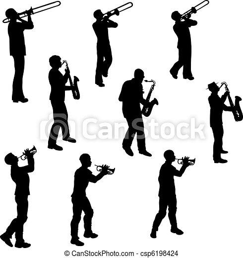 Músicos de Brass - csp6198424