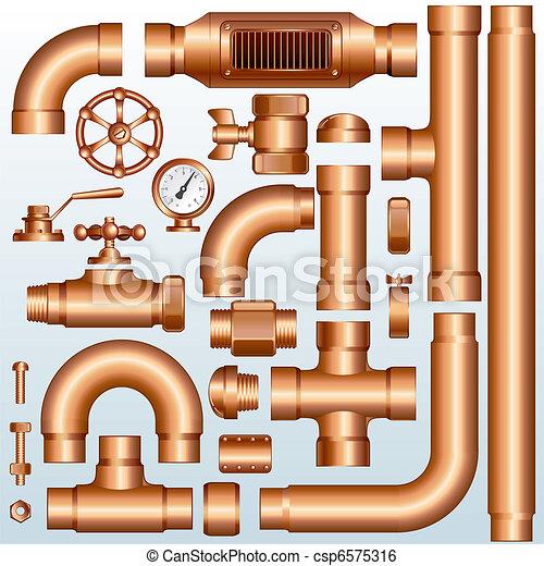 Partes de oleoducto Brass - csp6575316