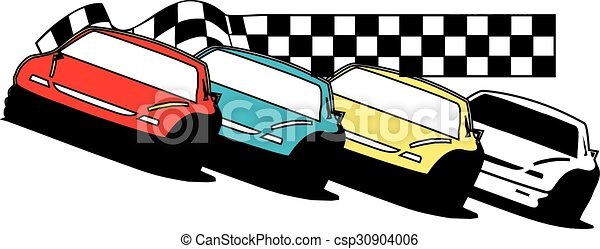 late model race cars stock cars racing together rh canstockphoto com race car vector images race car vector package