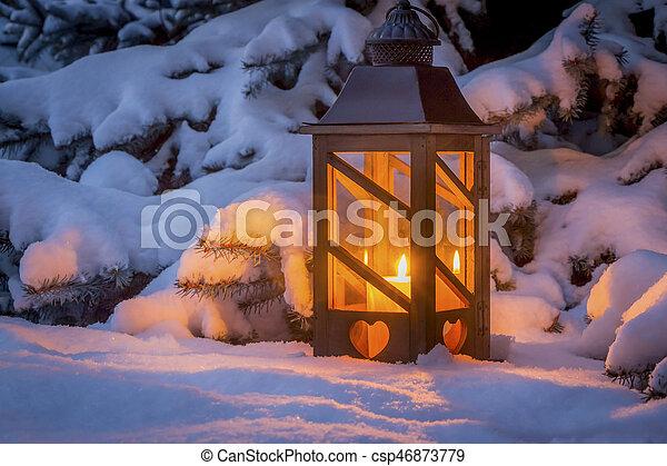 laterne schnee weihnachten winter romantische licht. Black Bedroom Furniture Sets. Home Design Ideas