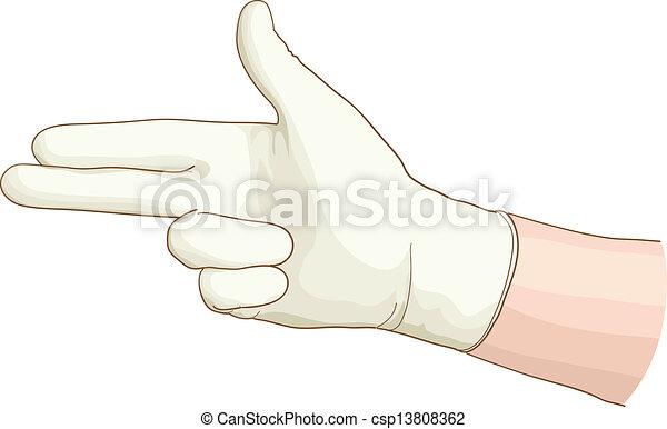 latex, main, gynécologue, glove. - csp13808362