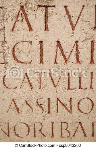 latim, esculpido, manuscrito, antiga - csp8043200