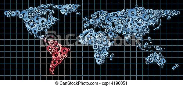 Latin America Economy - csp14196051