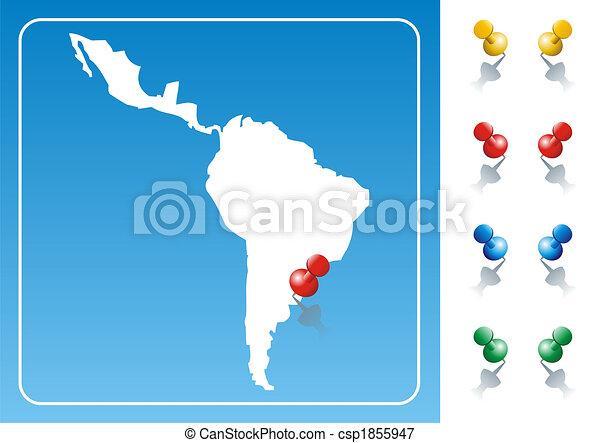 Latin America map illustration  - csp1855947
