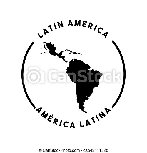 Silhouette Of Latin America Map Icon Over White Background Vector