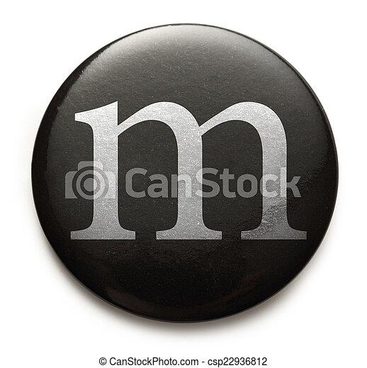 Latin letter m - csp22936812