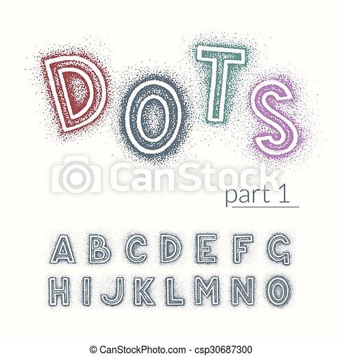 Latin vector font - csp30687300