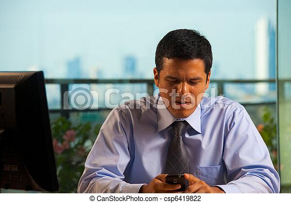 Latino Businessman Receives Bad News - csp6419822