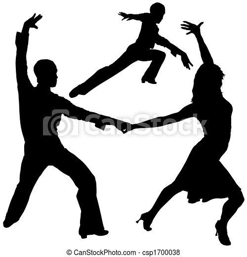 Latino Dance Silhouettes - csp1700038
