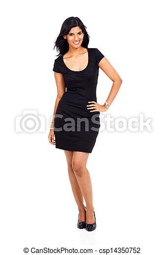 latino, donna, americano, attraente - csp14350752