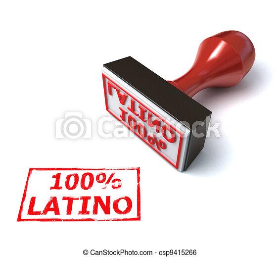Latino stamp - csp9415266
