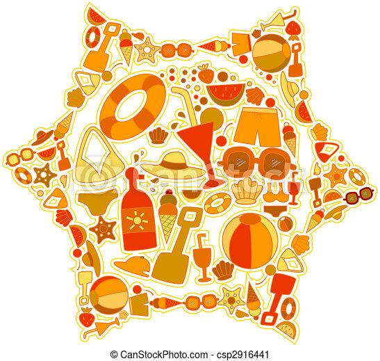 lato, ikony - csp2916441