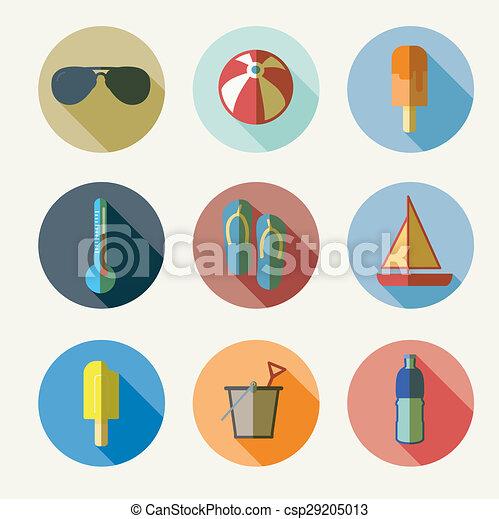 lato, ikony - csp29205013