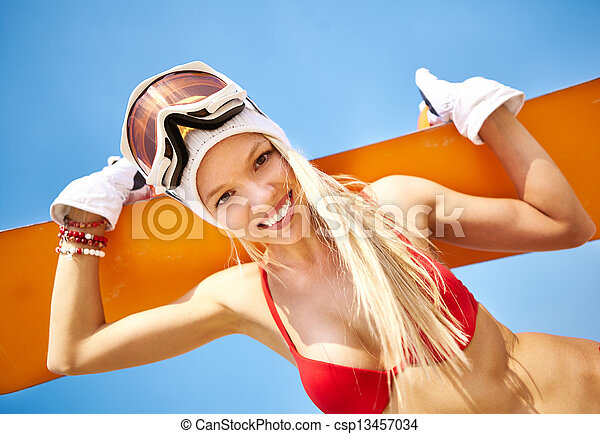 lato, snowboarder - csp13457034