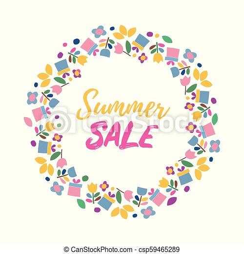 lato, sprzedaż, banner. - csp59465289