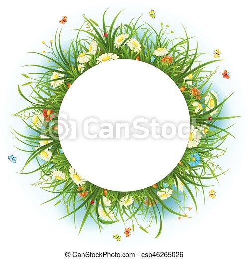 lato, ułożyć, kwiaty - csp46265026