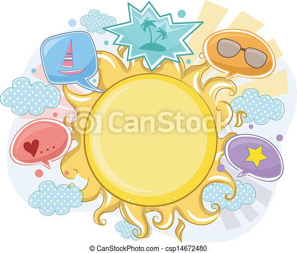 lato, ułożyć, tło, słońce - csp14672480
