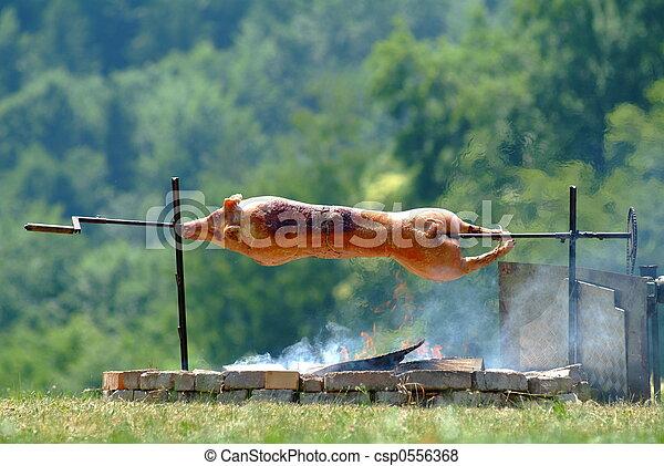 Lattante maiale lattante caldo esterno sputo maiale for Esterno frigorifero caldo