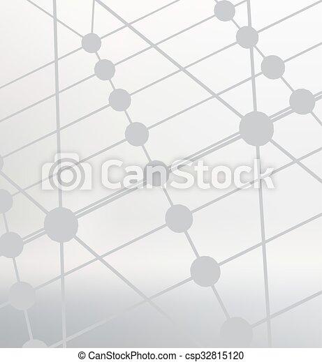 lattice., dots., résumé, lignes, polygonal, arrière-plan., maille, conception, portée, polygons., grille, moléculaire, style., structural - csp32815120