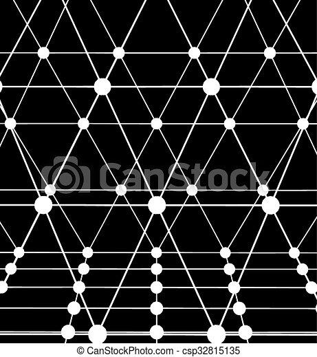 lattice., dots., résumé, lignes, polygonal, arrière-plan., maille, conception, portée, polygons., grille, moléculaire, style., structural - csp32815135