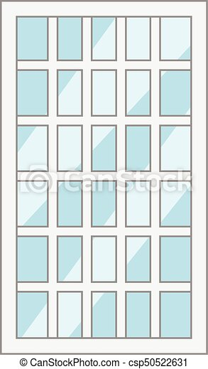 Lattice window frame icon, cartoon style. Lattice window frame icon ...