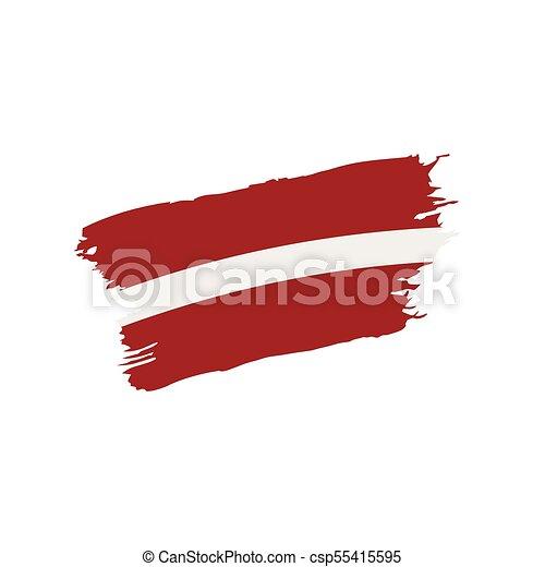 Latvia flag, vector illustration - csp55415595