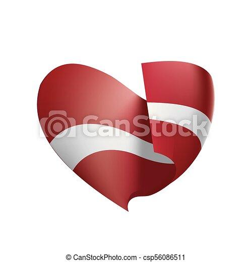 Latvia flag, vector illustration - csp56086511