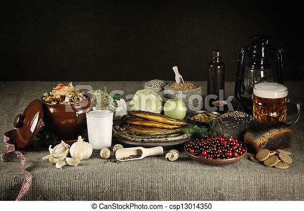 Latvian Food - csp13014350