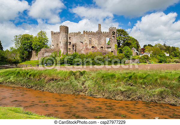 Laugharne Castle Wales - csp27977229