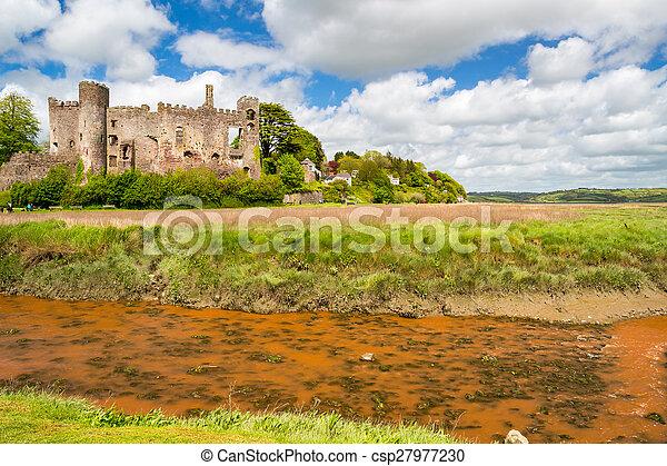 Laugharne Castle Wales - csp27977230