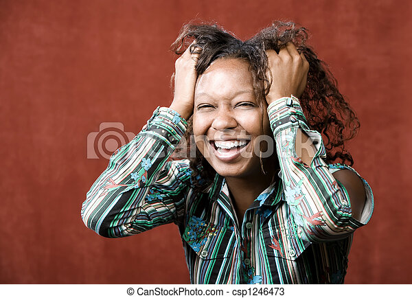 Laughing African-American Woman - csp1246473