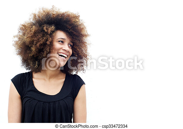 Laughing african american woman - csp33472334