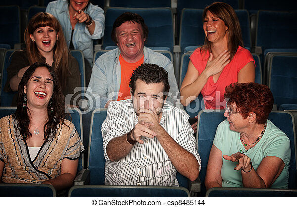 Laughing Audience  - csp8485144