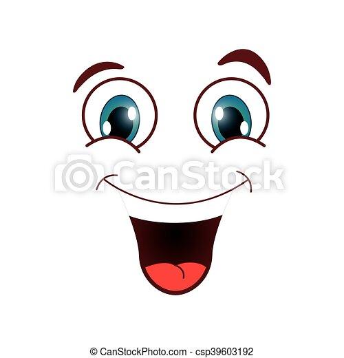 laughing emoticon icon - csp39603192