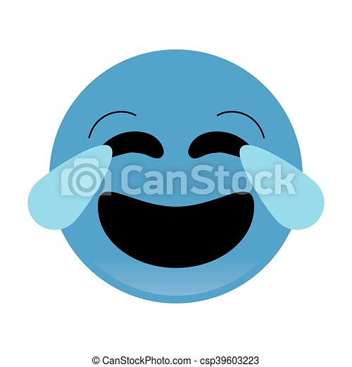 laughing emoticon icon - csp39603223