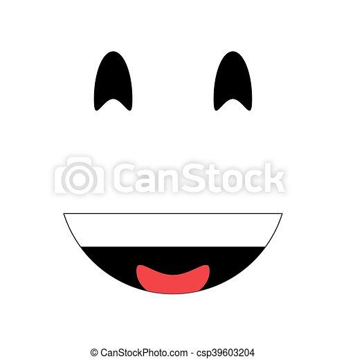 laughing emoticon icon - csp39603204