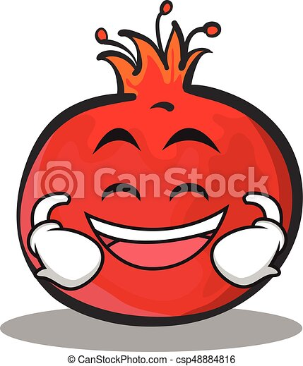 laughing face pomegranate cartoon character style vector art vector rh canstockphoto com pomegranate clipart black and white pomegranate clipart black and white
