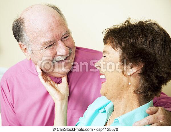 Laughing Loving Senior Couple - csp4125570