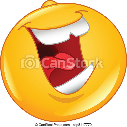 Laughing out loud emoticon - csp8117770