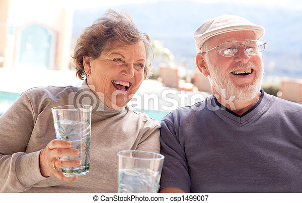Laughing Senior Adult Couple - csp1499007