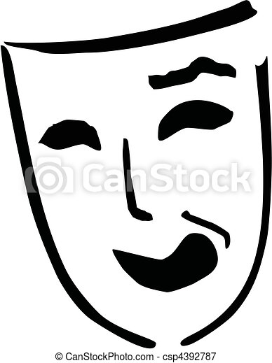 laughing theatre mask - csp4392787