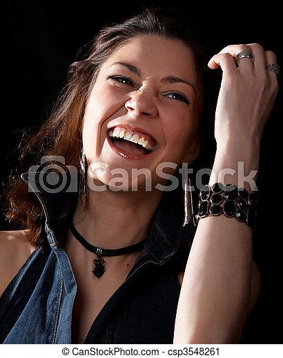 Laughing woman - csp3548261