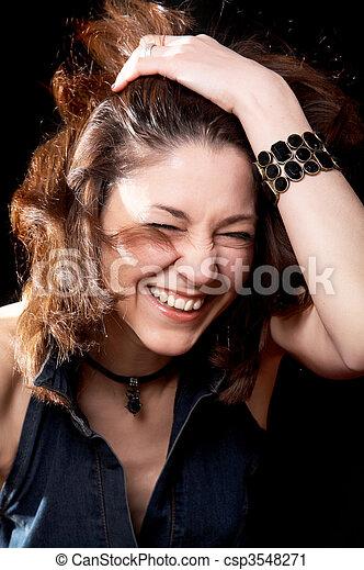 Laughing woman - csp3548271