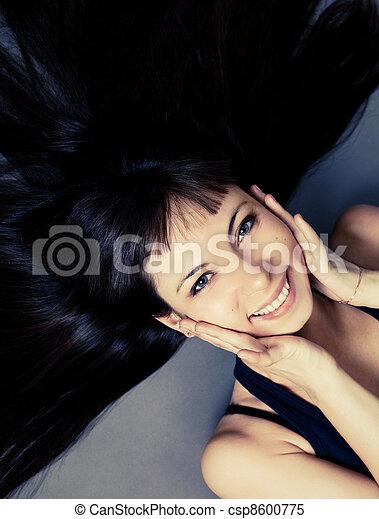 laughing woman - csp8600775