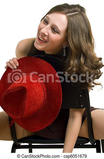 Laughing woman - csp6051679