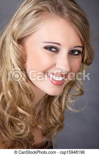 laughing young woman - csp15948196