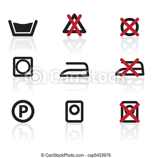 Laundry Care Symbols And Signs Icons