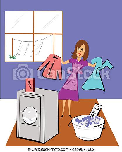 laundry day  - csp9073602