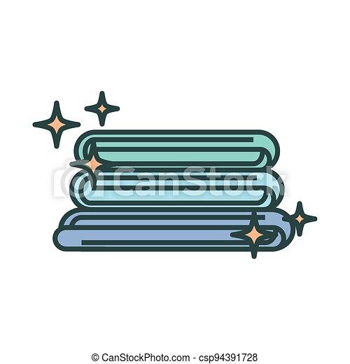 laundry folded clothes - csp94391728