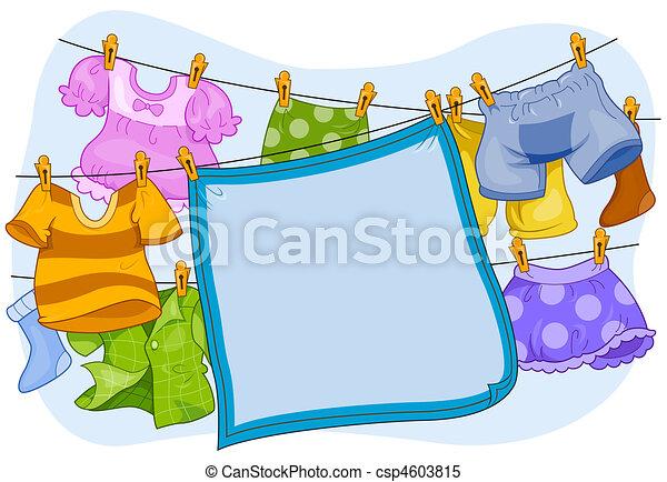 Laundry Frame  - csp4603815